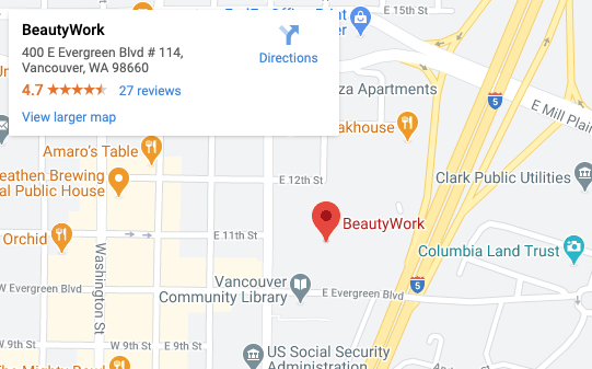 Beauty Work on Google Maps